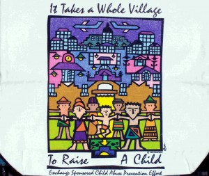 Village tote bag