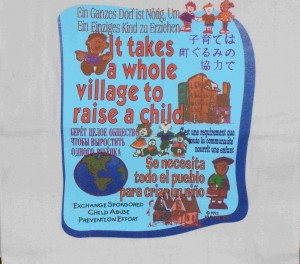 World Villiage tote bag